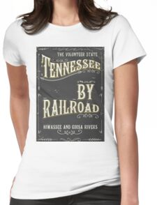 Tennessee USA vintage Railroad poster Womens Fitted T-Shirt