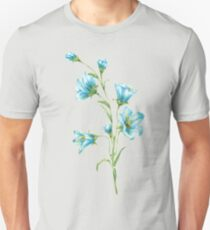 spring blue flowers. watercolor Unisex T-Shirt