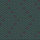 Dark Teal with Hot Pink Dashes by Annie Webster