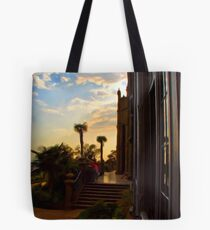 Looking out a window Tote Bag