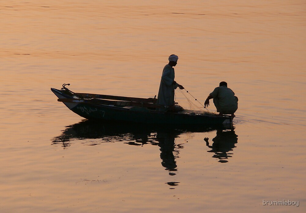 Fishermen at daybreak by brummieboy