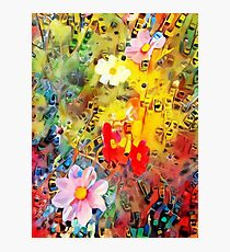Meadow flowers painting Photographic Print