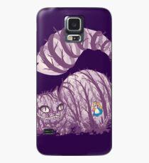 Inside wonderland (cheshire cat) Case/Skin for Samsung Galaxy