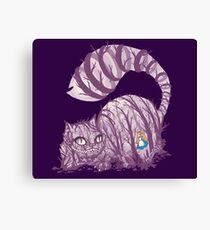 Inside wonderland (cheshire cat) Canvas Print