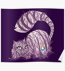 Inside wonderland (cheshire cat) Poster