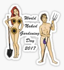 World Naked Gardening Day 2017 - Color Sticker