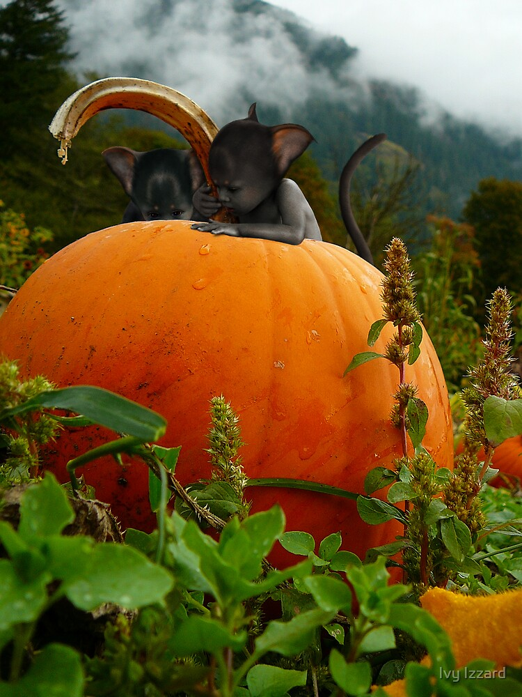 Pumpkin sprite infestation by Ivy Izzard