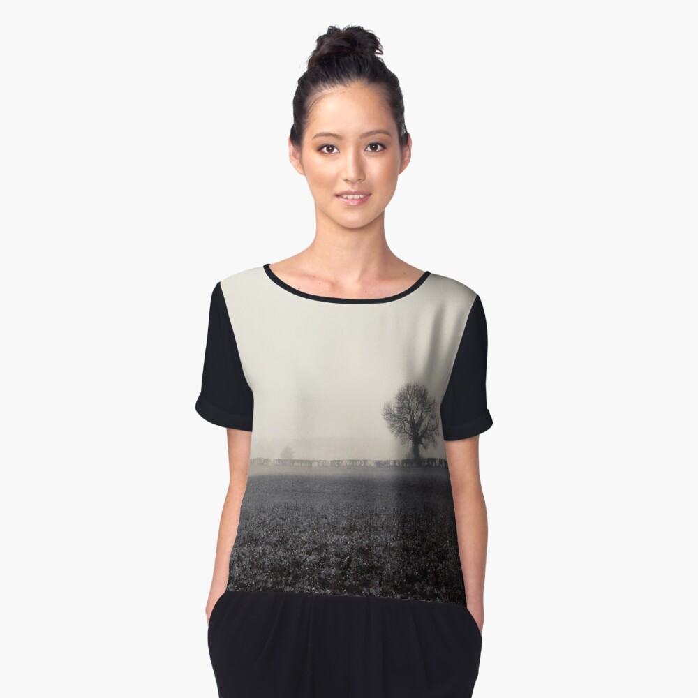 Ghosts in the Landscape Women's Chiffon Top Front