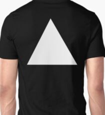 TRIANGLE, White, on Black, Pure and simple T-Shirt