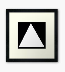 TRIANGLE, White, on Black, Pure and simple Framed Print