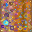 Digital dots, brown and neutral colors for fashion and decor by Regina Valluzzi