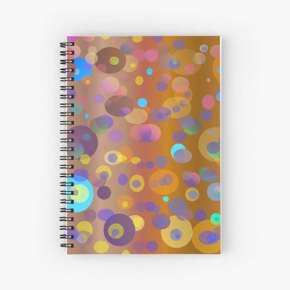 Digital dots, brown and neutral colors for fashion and decor Spiral Notebook