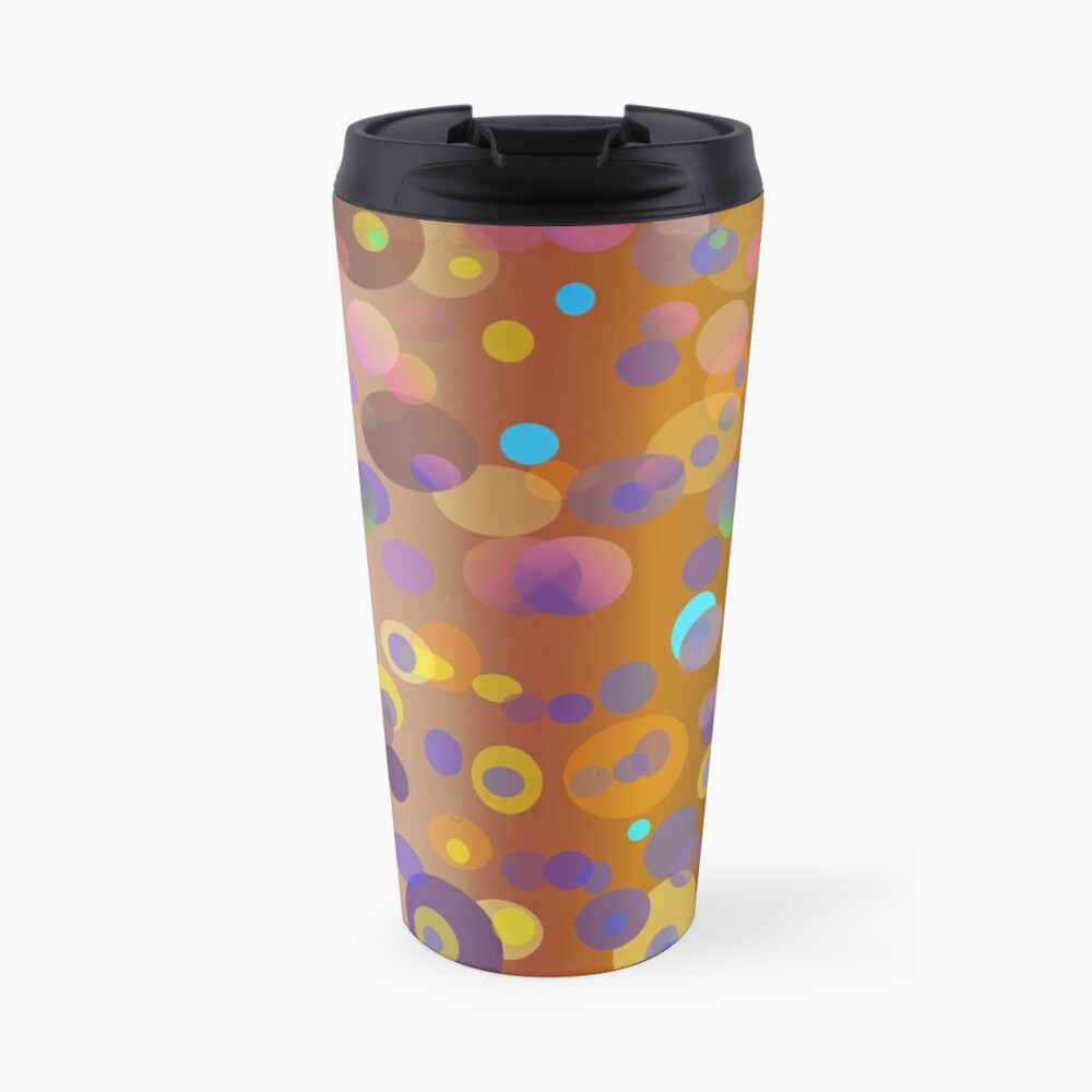 Digital dots, brown and neutral colors for fashion and decor Travel Mug
