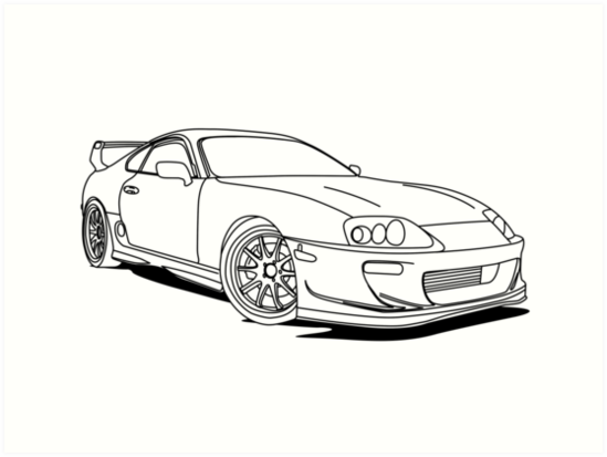 drawing of toyota image collections