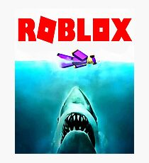 jaws roblox Photographic Print