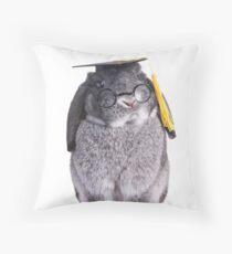 Graduate Bunny Throw Pillow