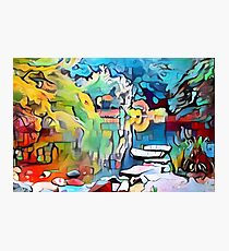 Abstract colorful graffiti pond Photographic Print