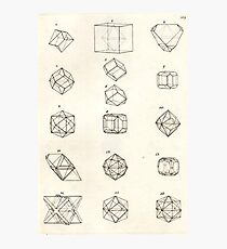 Vintage Crystal Geometry Photographic Print