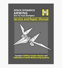 Arwing Service and Repair Manual Photographic Print