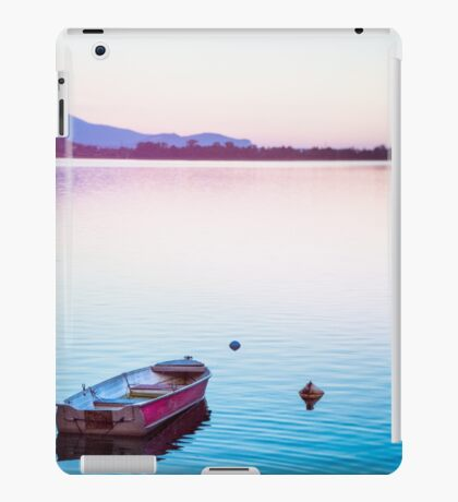 Boat at sunset iPad Case/Skin