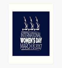 Lámina artística Día Internacional de la Mujer 8 de marzo de 2017