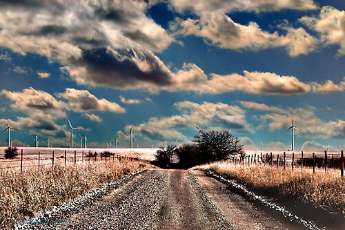 Road to the Windmills by grinandbearit