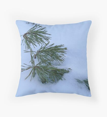 Solitude of Winter Throw Pillow