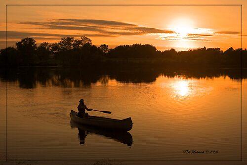 Sunset Canoeing by grinandbearit