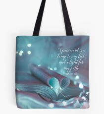 PSALM 119:105 Tote Bag