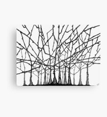 Wild Trees in Black and White Canvas Print