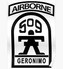 509th Infantry stencil Poster