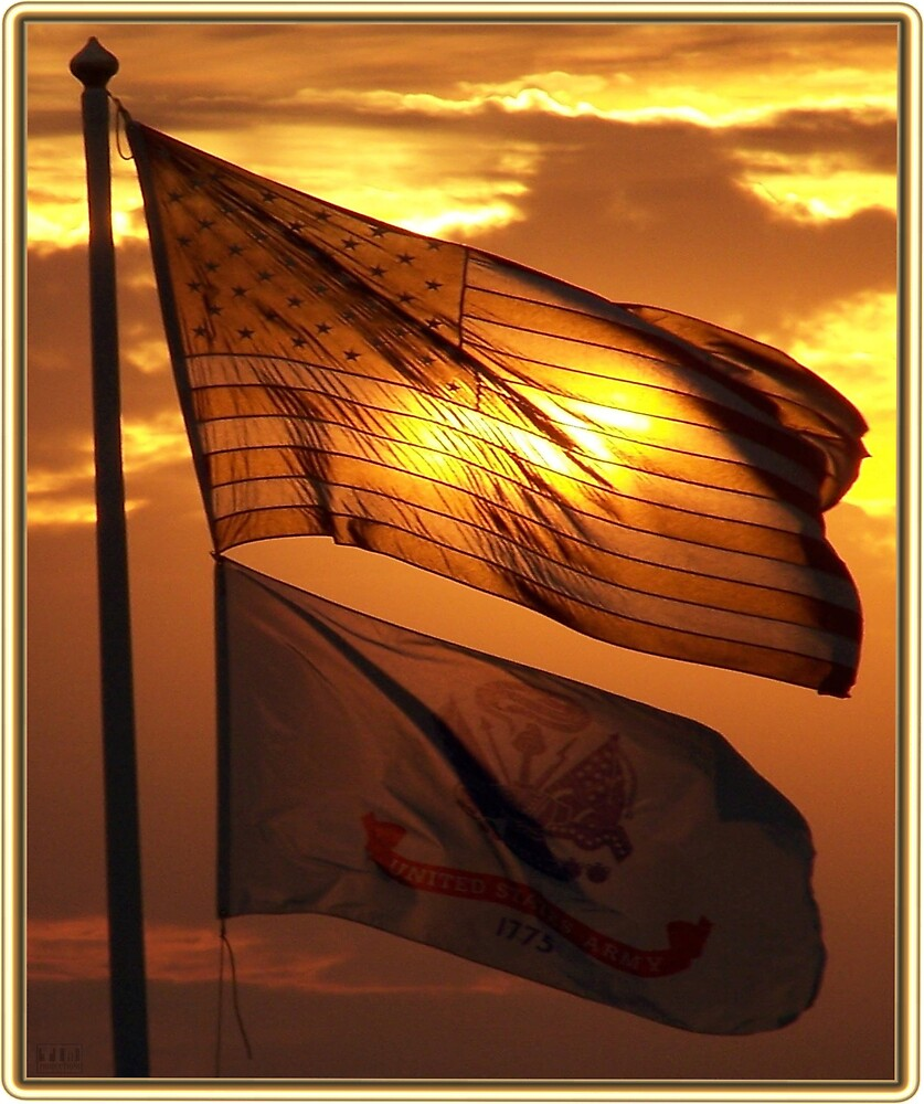 US And 1775 Army Flags by tim100