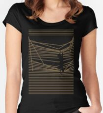Get Off Now! Cats & Curtains Women's Fitted Scoop T-Shirt