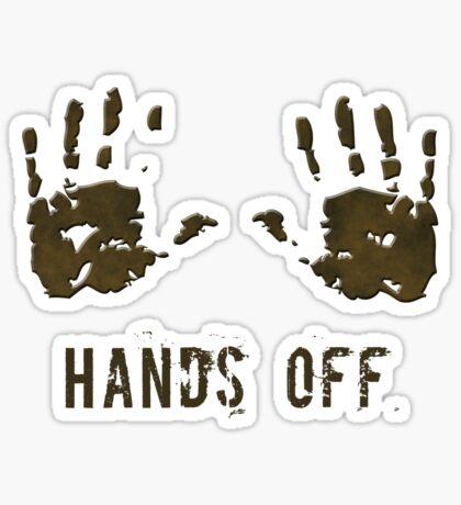 Hands off Sticker