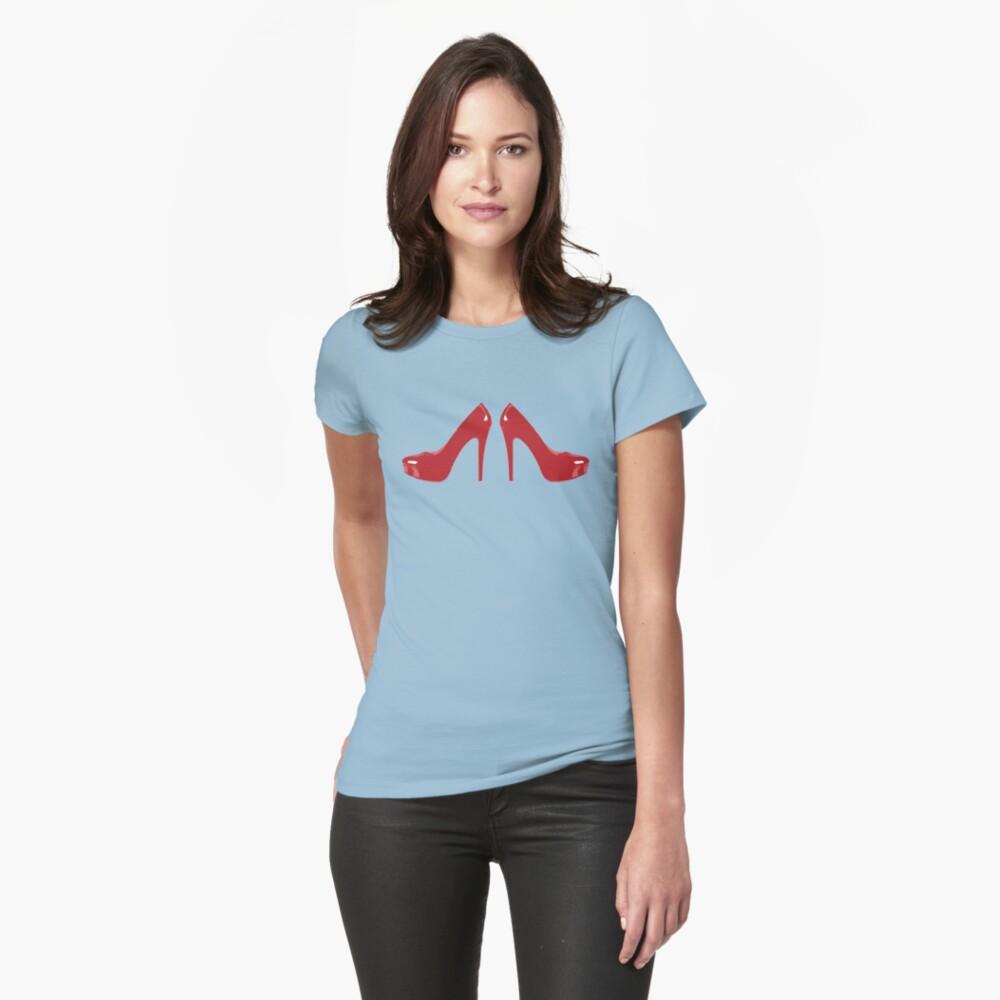 Red Heels Womens T-Shirt Front