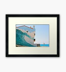 The Wave Trompe l'oeil - Hossegor, France. Framed Print