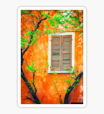 Window with tree branches Sticker