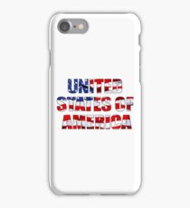 United States of America Words on American Flag iPhone Case/Skin