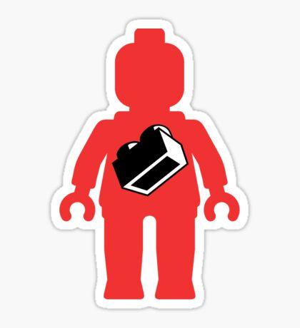 Red Minifig with 1 x 2 Brick Logo, Customize My Minifig Sticker