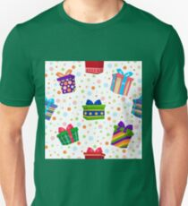 Colorful Gift Boxes Seamless Pattern T-Shirt