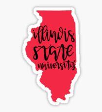 Illinois State University State Outline Sticker