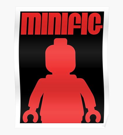 Retro Large Black Minifig, Customize My Minifig Poster