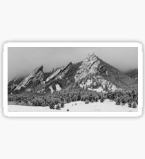 The Flatirons In Winter Dress Sticker