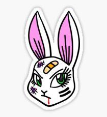 Beat Em Up Bunny Cream Sticker
