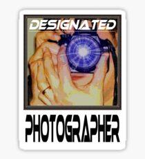 Designated Photographer Sticker