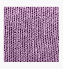 Mauve Knit Photographic Print