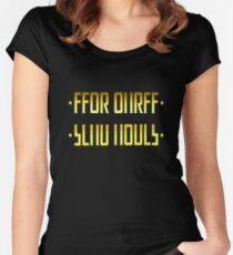 SEND NUDES / SECRET MESSAGE GOLD Women's Fitted Scoop T-Shirt