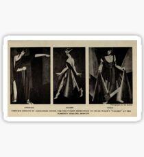 Aleksandra Exter - Cubist Costumes for Wilde's Salome (1922) Sticker
