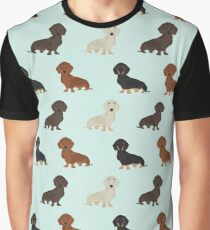 Doxie dachshund dachsie pattern print dog lover dog breed custom dog art by pet friendly by PetFriendly Graphic T-Shirt