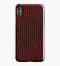 Burgundy Knit iPhone Case/Skin